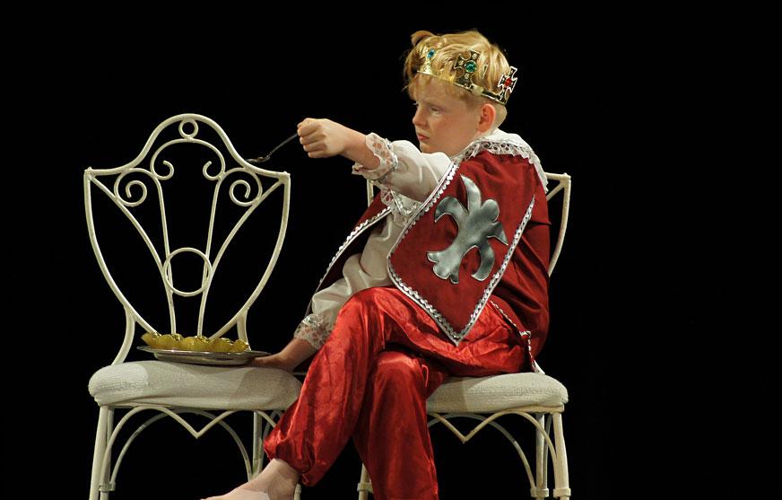 Theaterstücke für Kinder, Theaterszene mit Kind